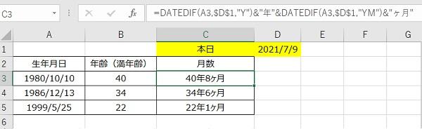 月数含む年齢計算
